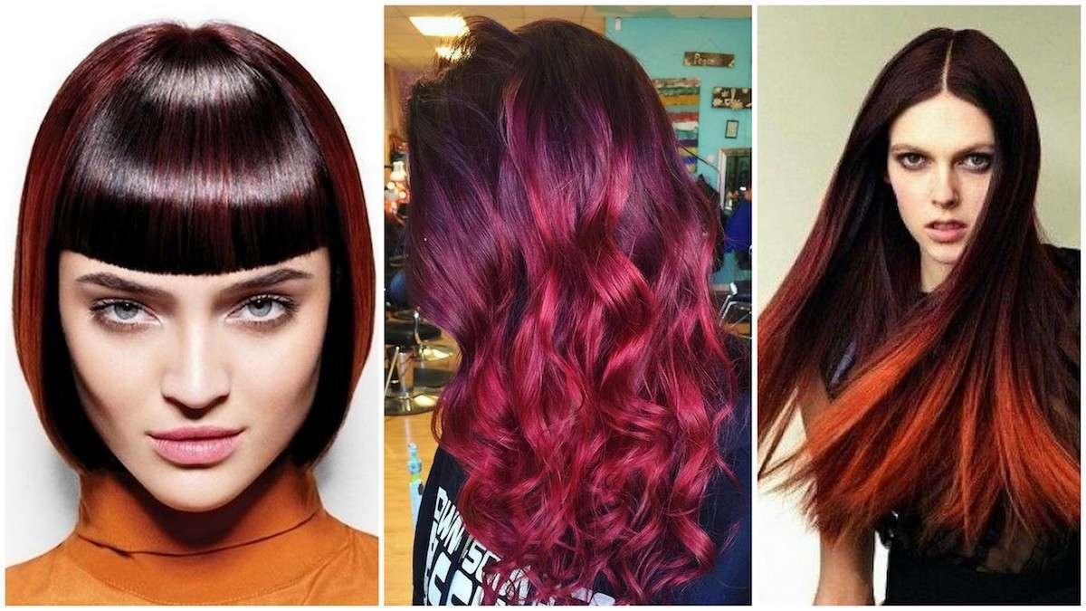 Shatush rosso per capelli castani e neri: le tonalità più belle