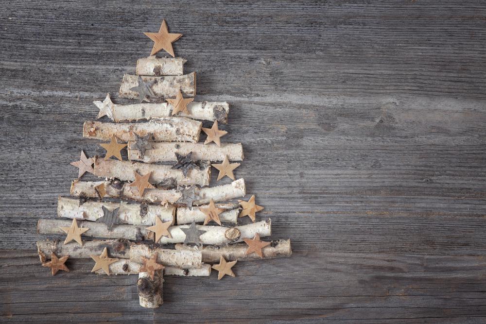 Addobbi albero di Natale in legno