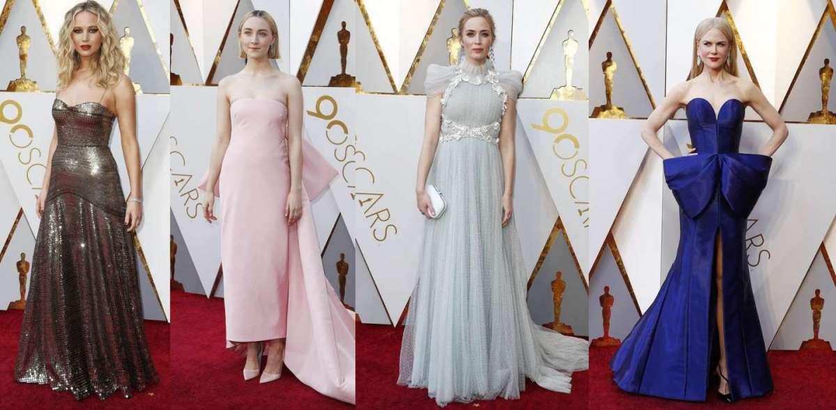 Look delle star agli Oscar 2018