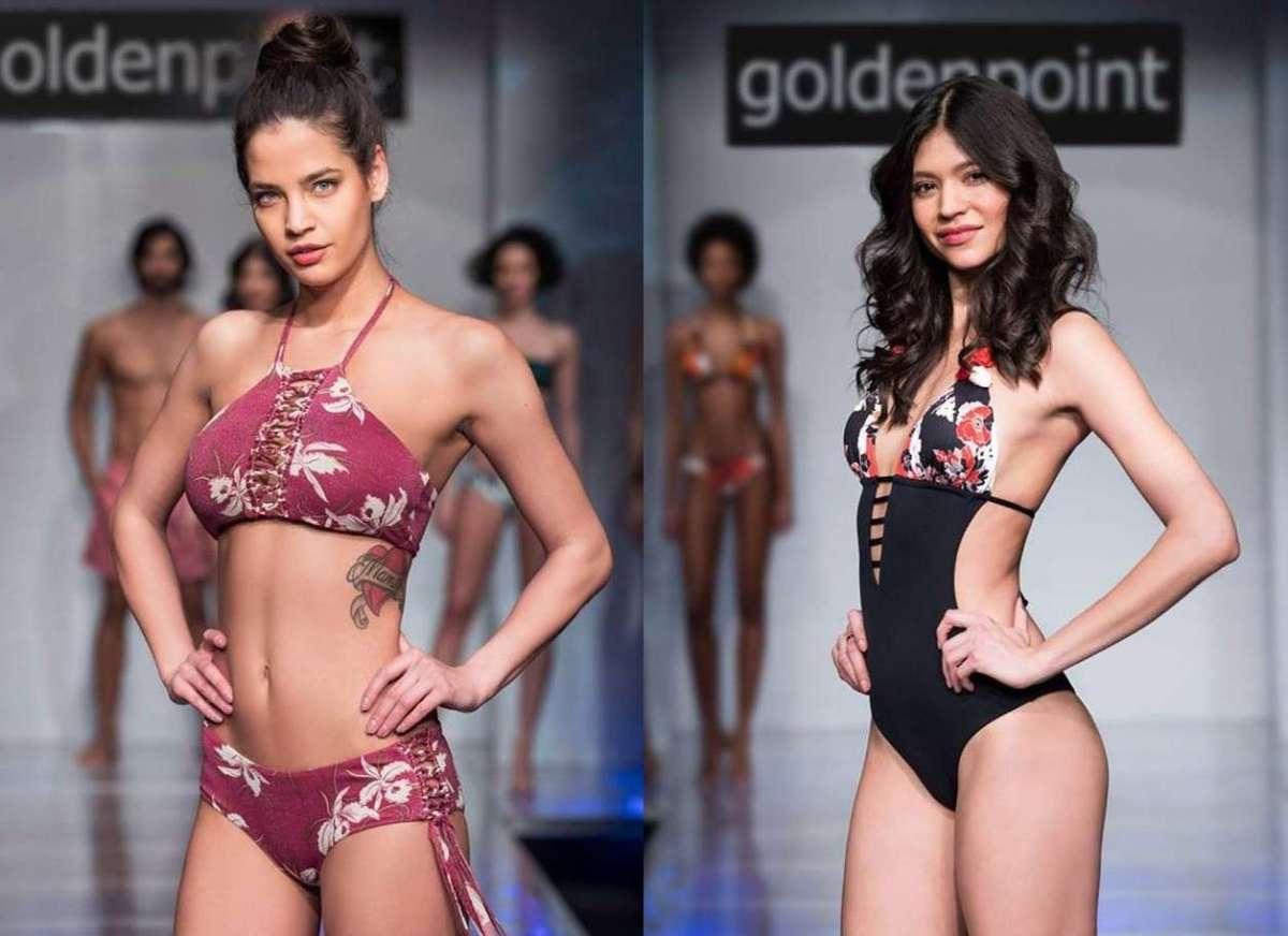 Geometrical Flower Goldenpoint Costume da Bagno Donna Reggiseno Bikini a Triangolo Incrociato