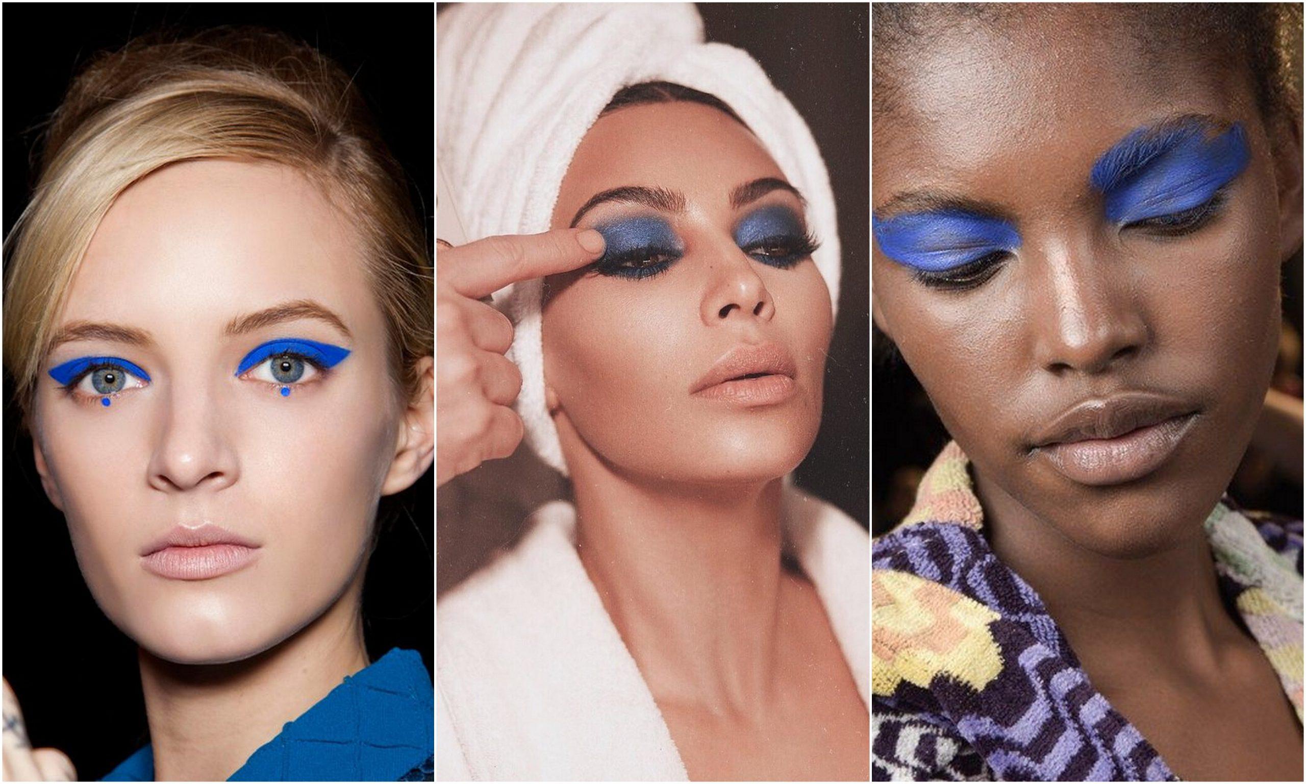 Ombretto blu: la tendenza beauty dell'estate 2018 lanciata da Kim Kardashian