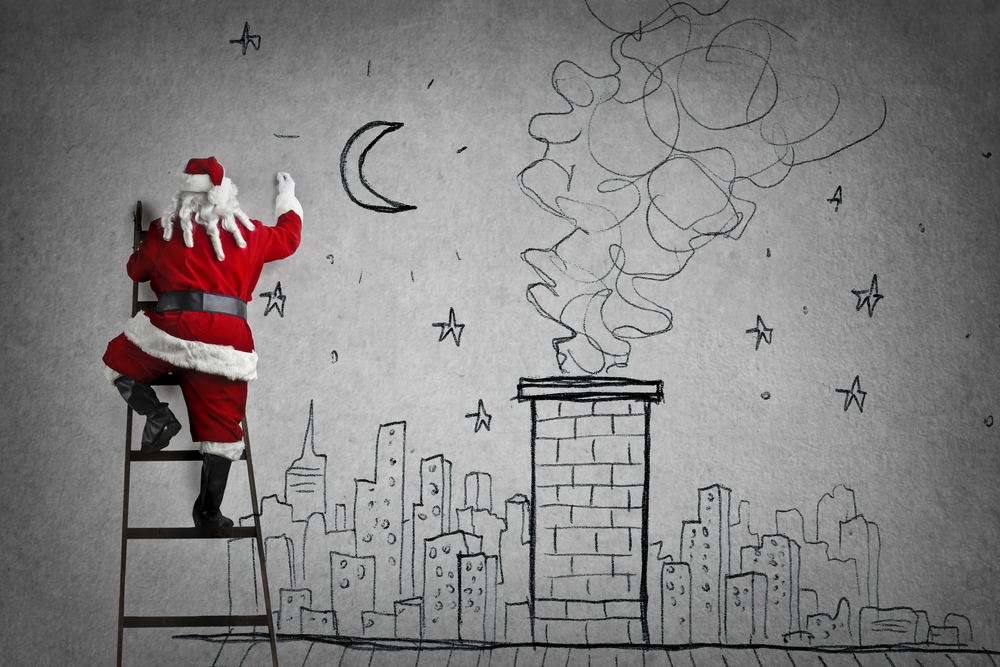 Disegni Babbo Natale facili