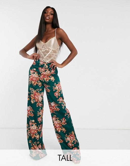 pantaloni a palazzo a fiori Asos