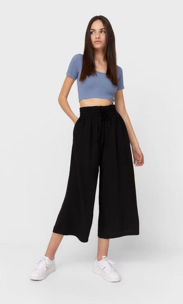 pantaloni a palazzo corti