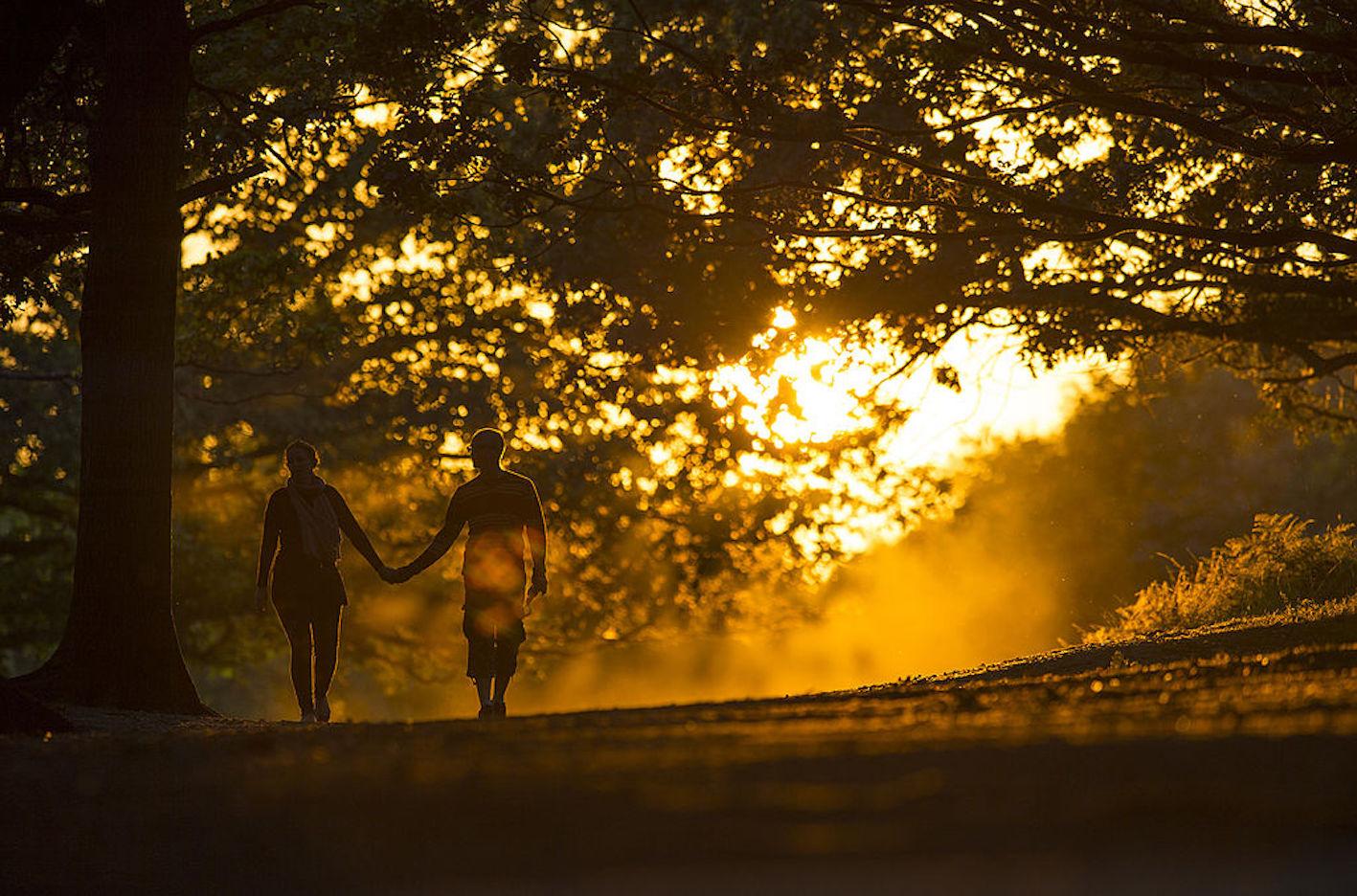 Una coppia a passeggio