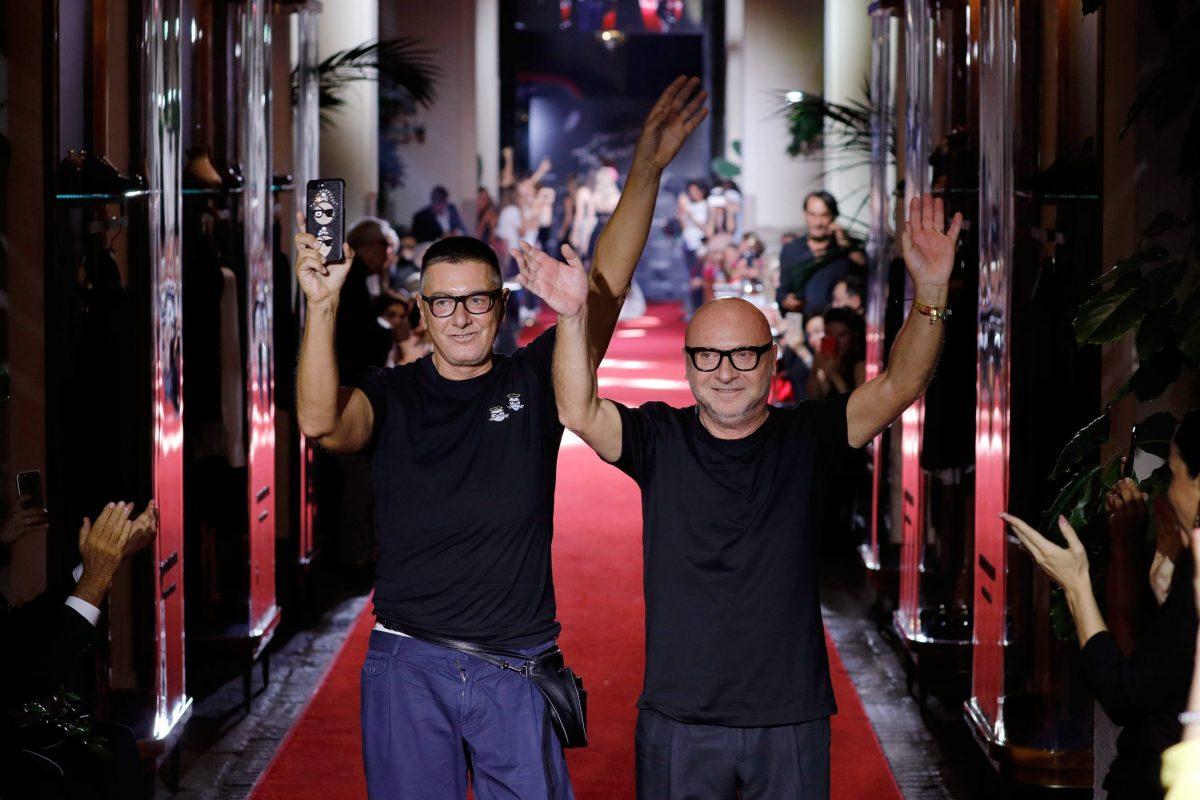 Dolce&Gabbana alla fine di una loro sfilata