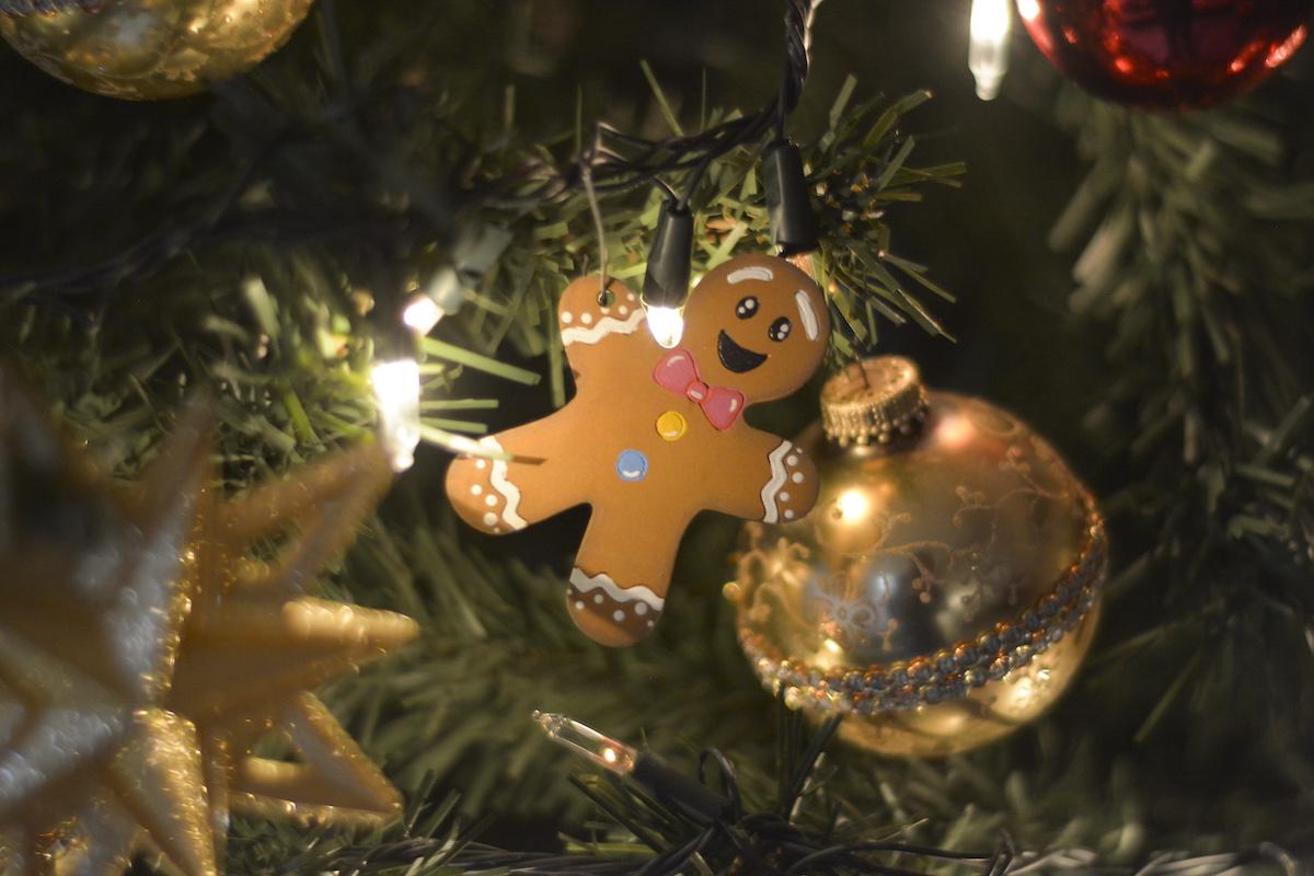 Albero Natale decorazioni lucine