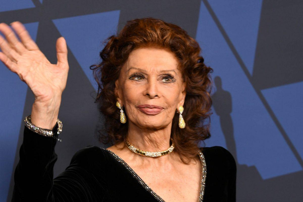 Sophia Loren sul red carpet nel 2020
