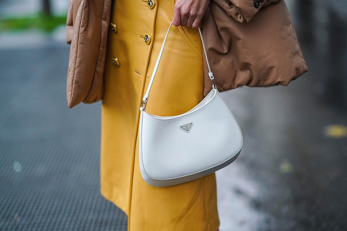 cleo borsa bianca prada