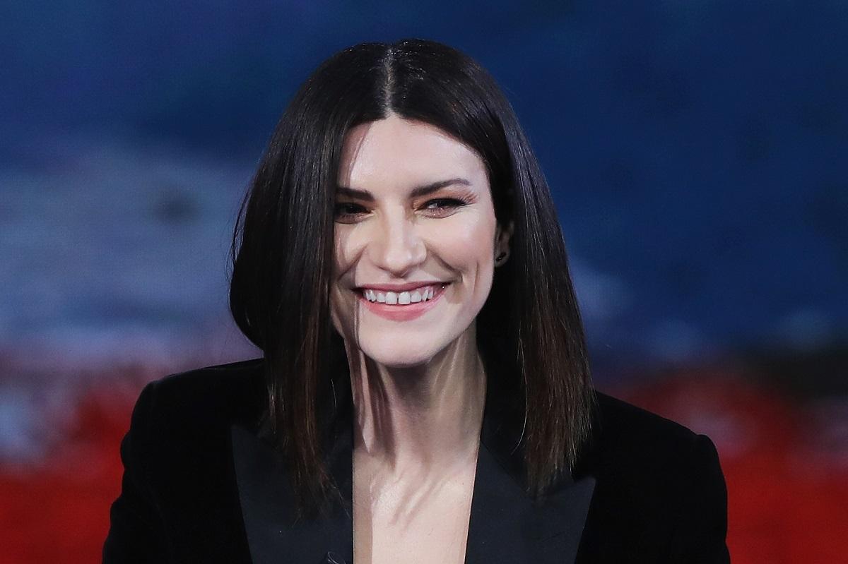 La cantante Laura Pausini partecipa al programma televisivo 'Che Tempo Che Fa' il 16 dicembre 2018 a Milano, Italia