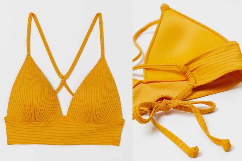 bikini giallo h&m