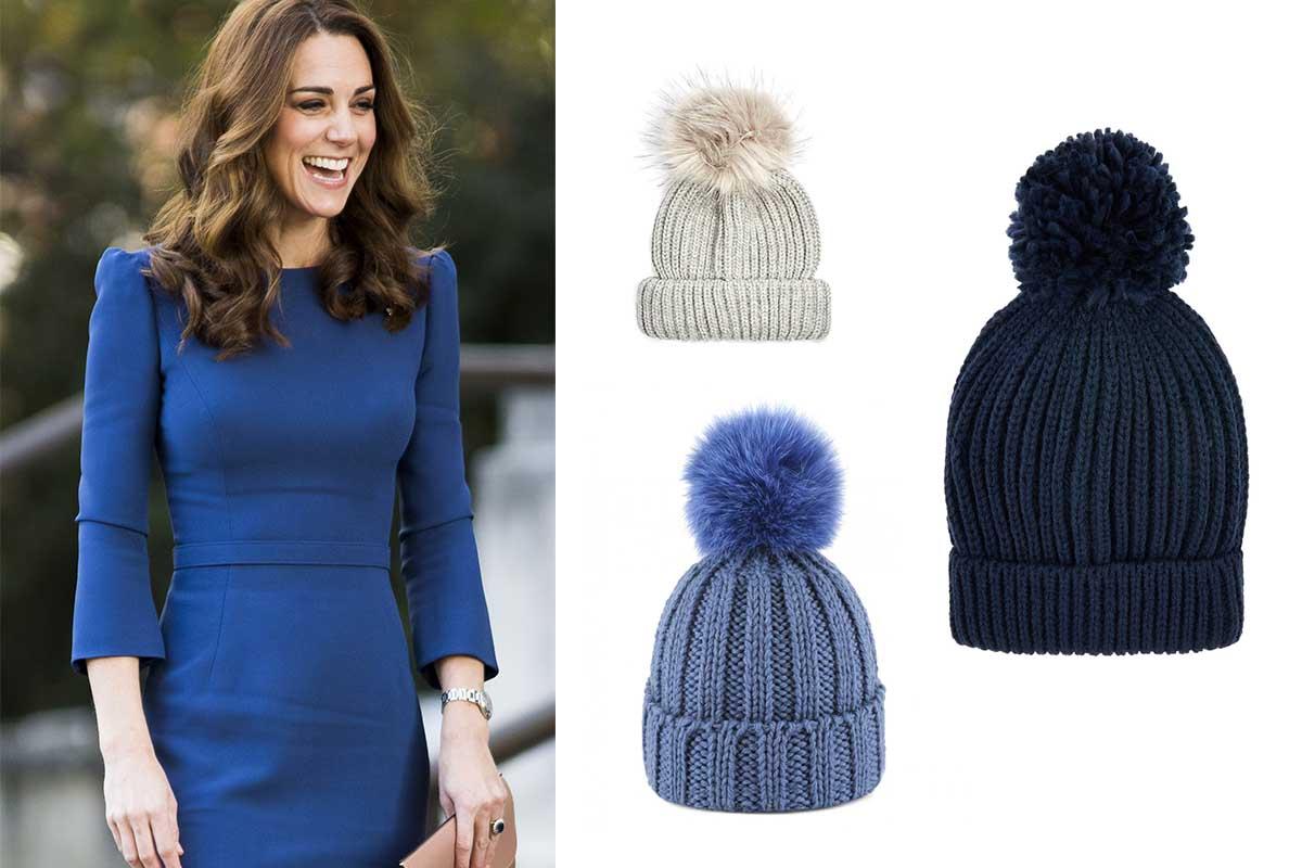 Il cappellino con pon pon di Kate è l'accessorio perfetto per l'inverno
