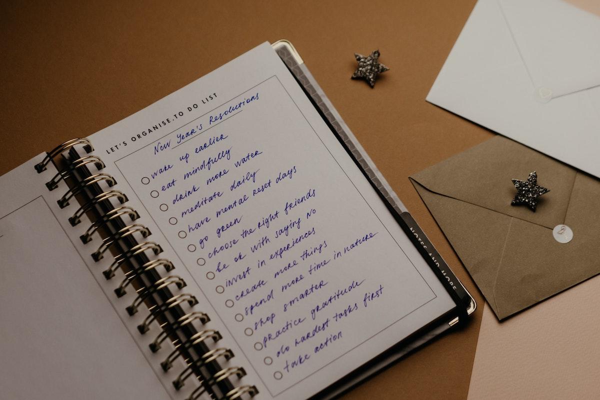 lista cose da fare quaderno