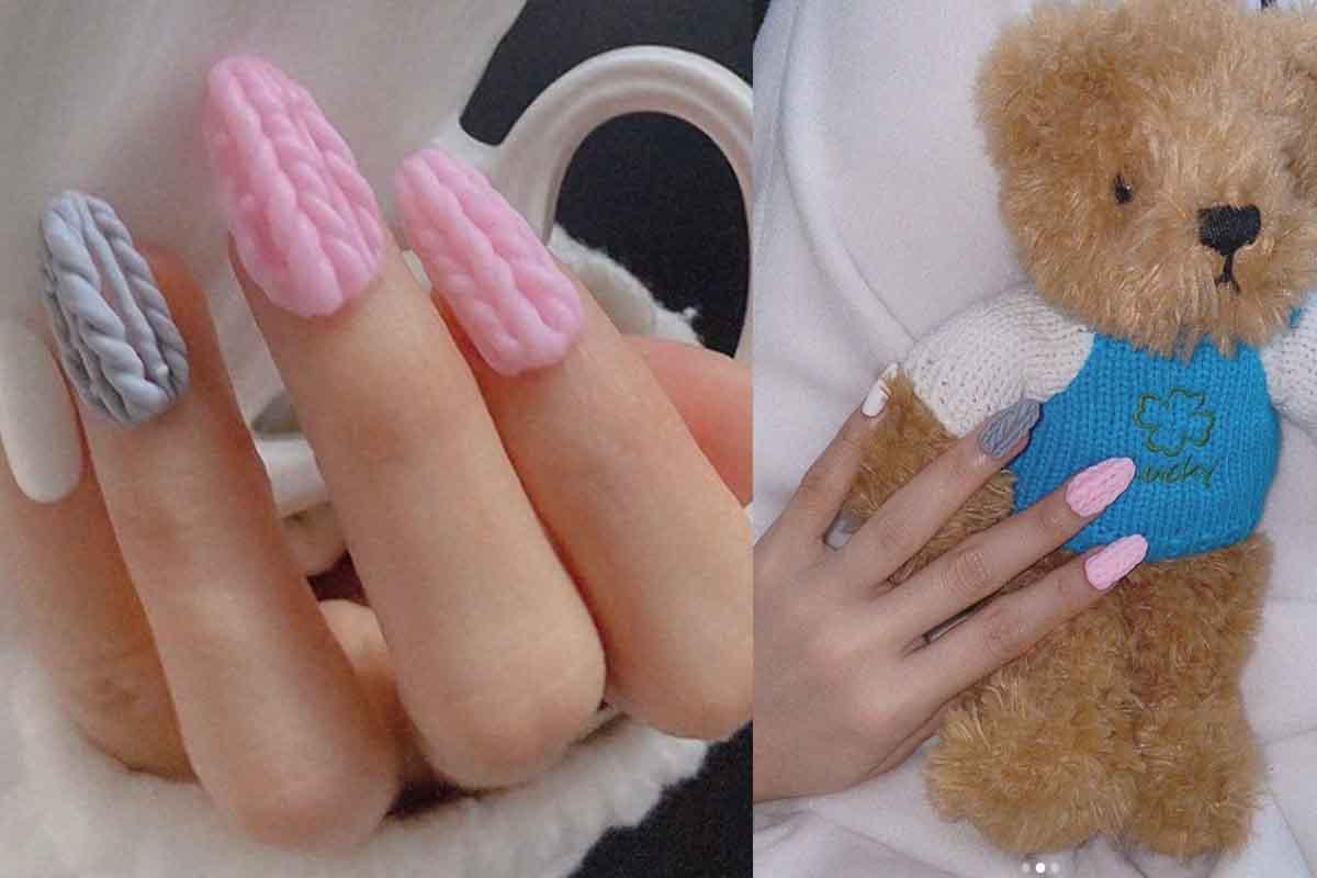 La nuova tendenza per le unghie ricorda i maglioni invernali