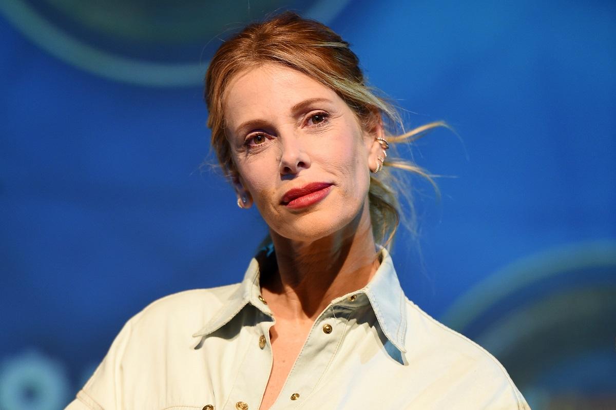 La conduttrice televisiva Alessia Marcuzzi partecipa al photocall