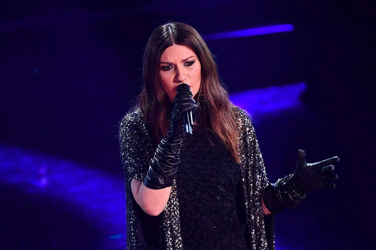 Sanremo beauty look Laura Pausini è sul palco del 71 ° Festival di Sanremo 2021 al Teatro Ariston il 03 marzo 2021 a Sanremo, Italia.