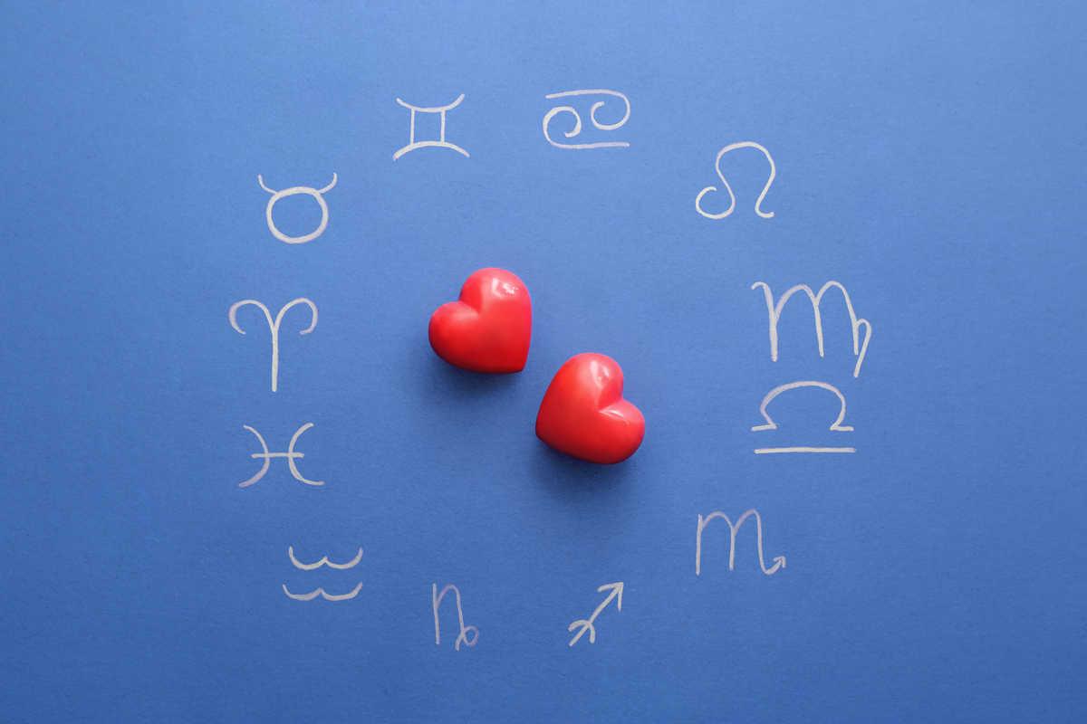 Amore segni zodiacali e cuori