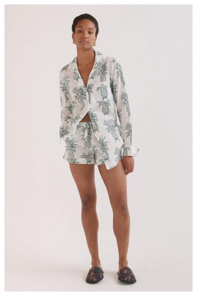 pigiama con stampa di ananas