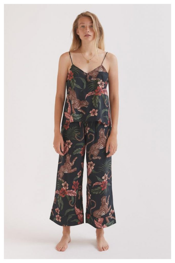 pigiama floreale base scura