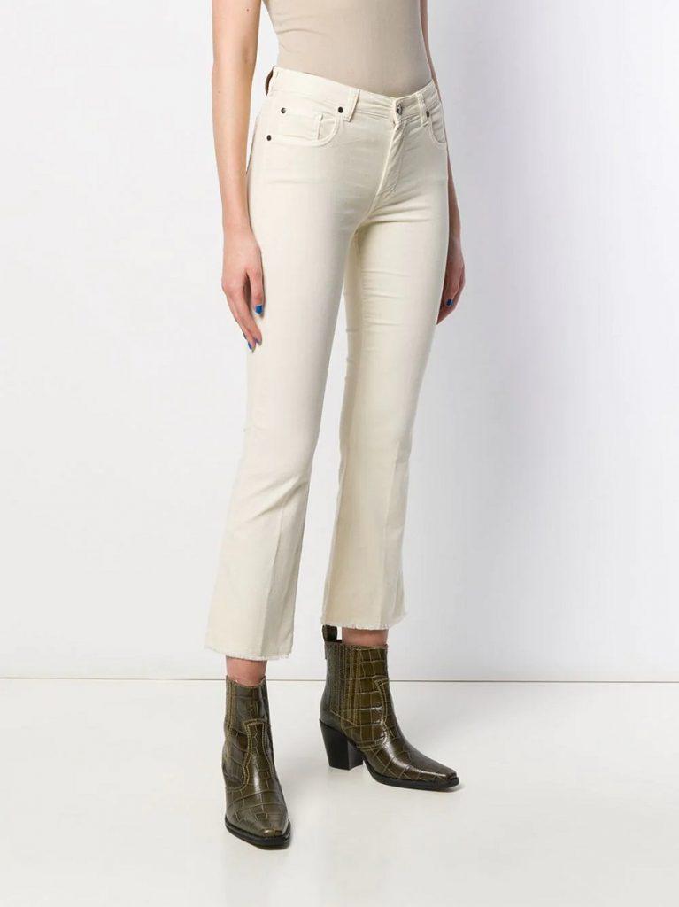 Fay jeans svasati bianco sporco