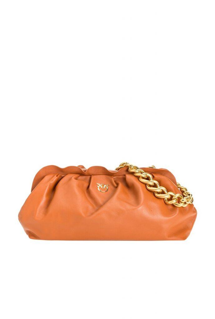 chain pouch pinko