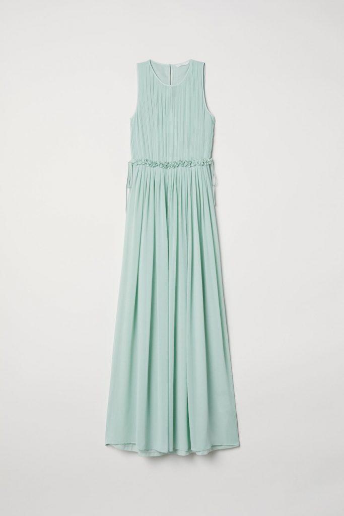 long dress verde menta