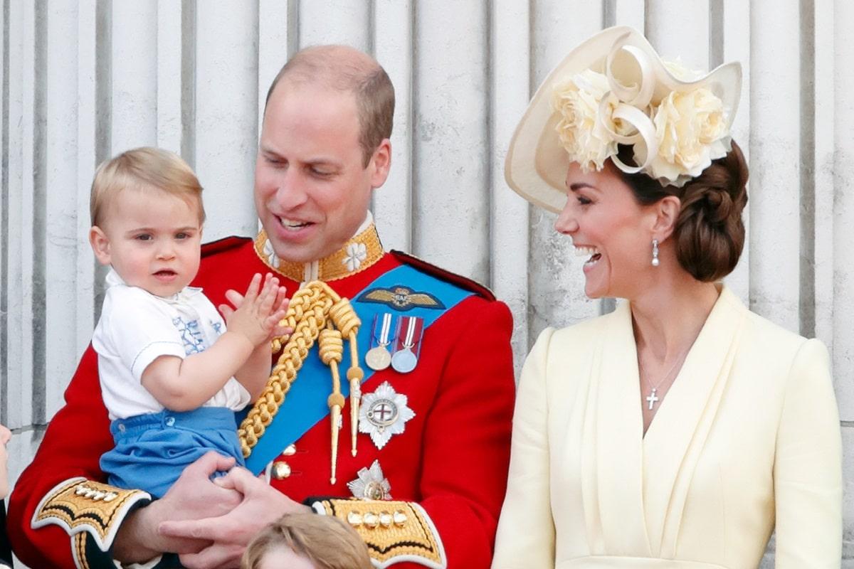 Kate Middleton, Principe William, Louis di Cambridge