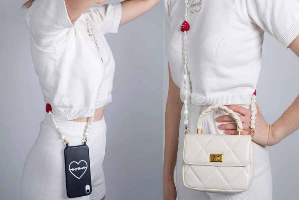 phone strap perline a-more
