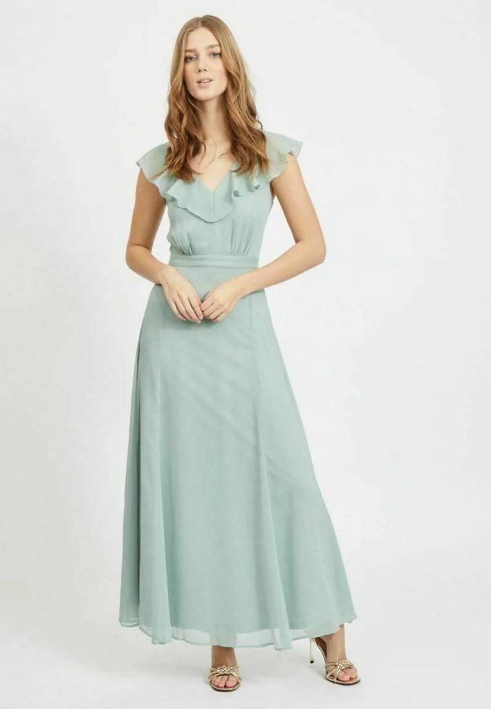 verde menta long dress