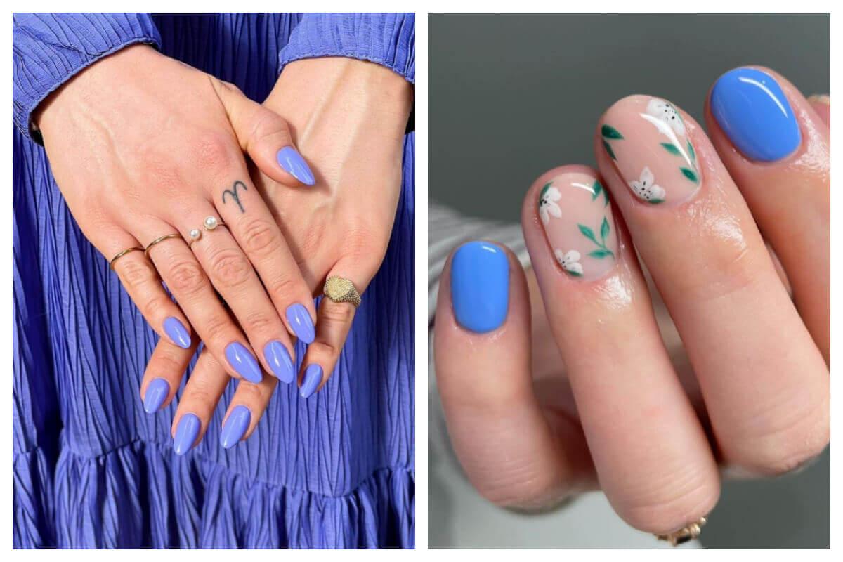 L'indaco è il colore di tendenza per la manicure primavera estate 2021