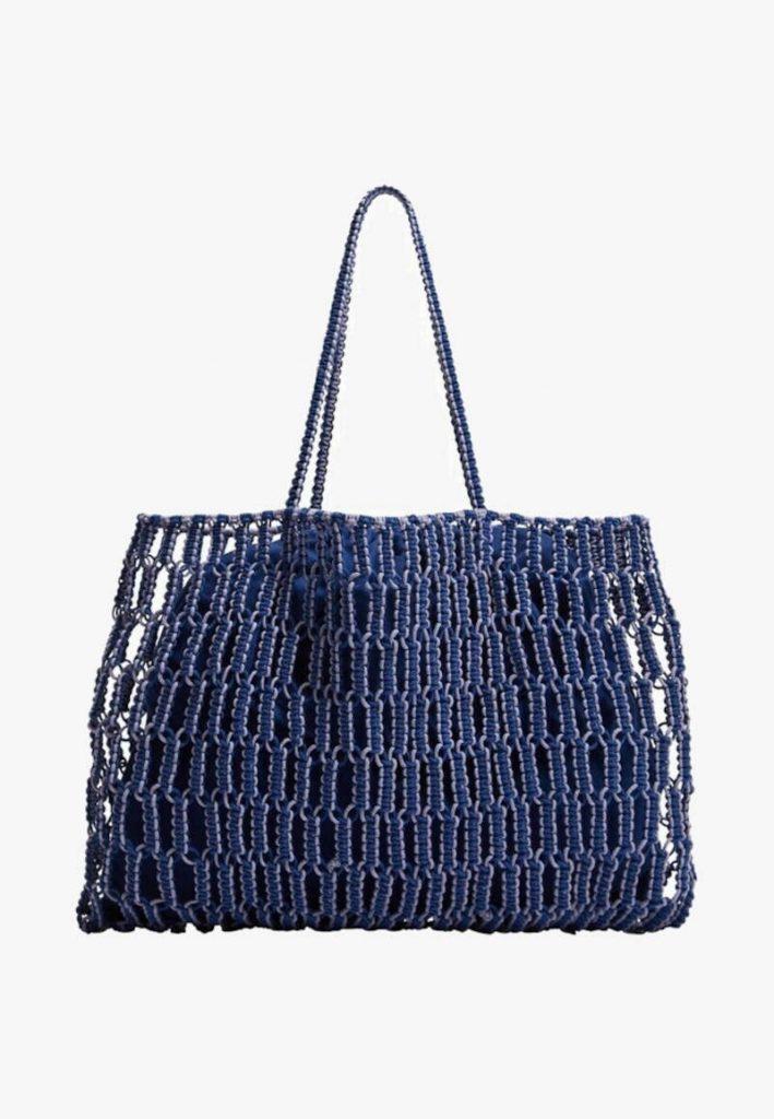 Shopper Mango a rete blu