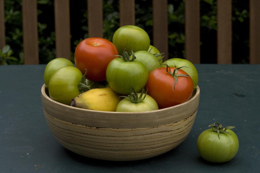 Pomodori verdi in agrodolce