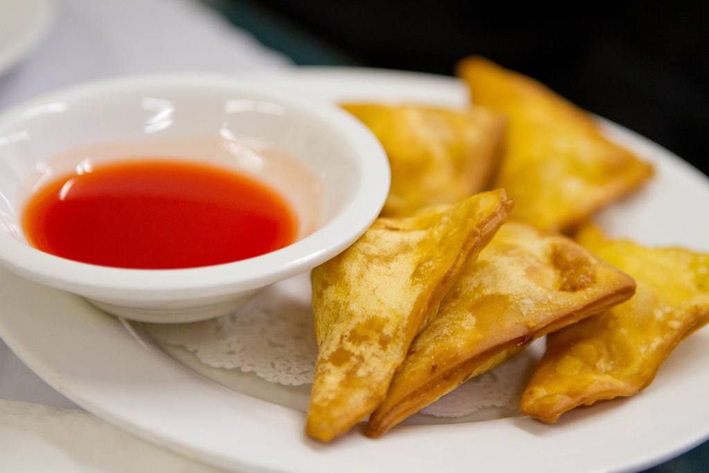 Wonton con pollo e gamberetti cinesi
