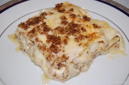 lasagna gorgonzola e noci