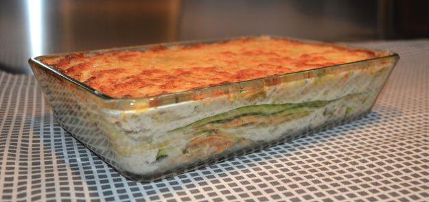 Lasagne di asparagi e salmone