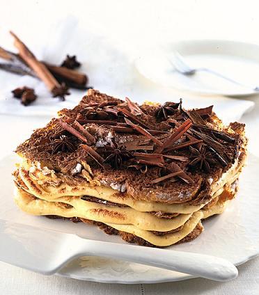 Millefoglie di panettone al cioccolato