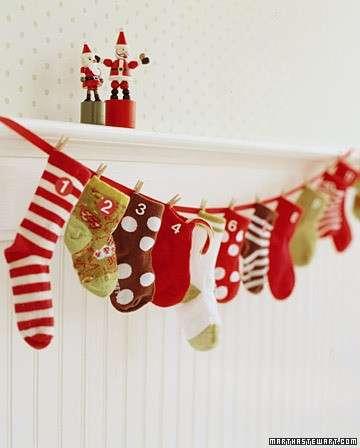 Decorazioni di Natale fai da te: il calendario dell'avvento