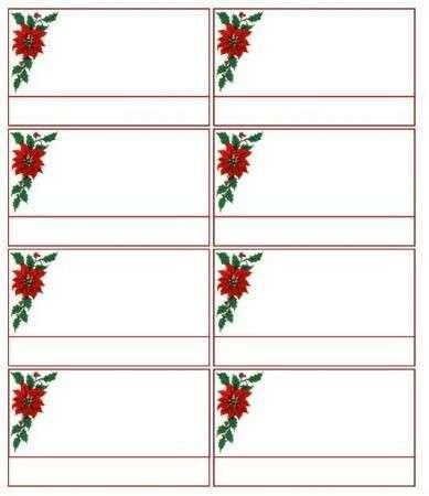 Natale: Menù e segnaposto da stampare