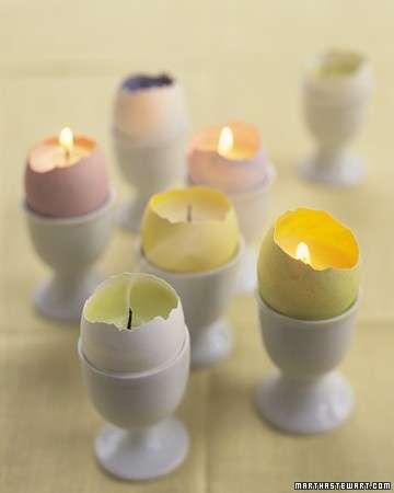 Pasqua, decorazioni fai da te: le candele