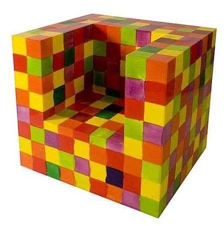 eco scultura poltrona colorata