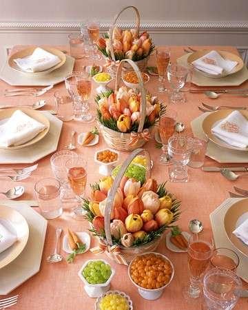 imbandire tavola di Pasqua