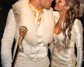 Matrimonio vip, stile trash per Clemente Russo