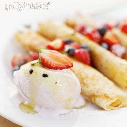 Ricette dolci: crepes con il gelato