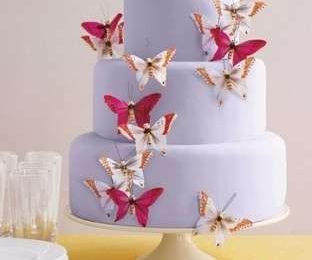 Ricevimento: decora con farfalle e uccelli