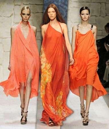 abiti arancio