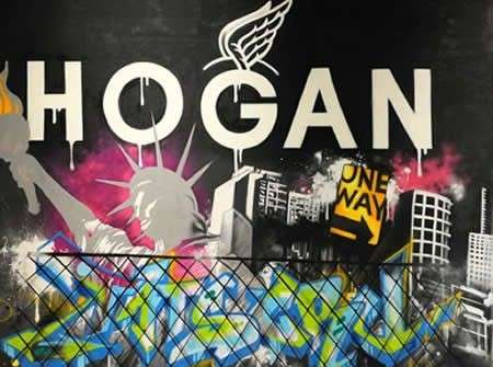 Hogan, le sneakers con graffiti Olympia 3000