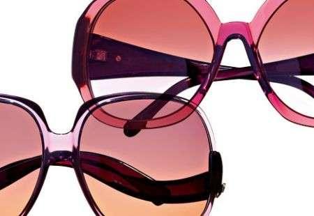 Occhiali da sole estate 2009: trasparenti rosso e viola