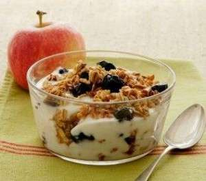 cereali e yogurt