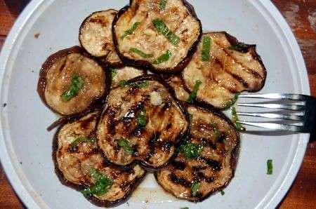 melanzane grigliate piatto
