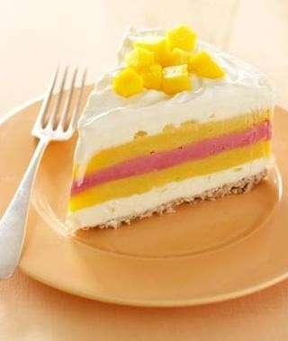 torta gelato fragole pesche